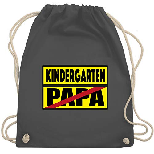 Kindergarten - Kindergarten Schild Papa - Unisize - Dunkelgrau - verbotsschilder - WM110 - Turnbeutel und Stoffbeutel aus Baumwolle