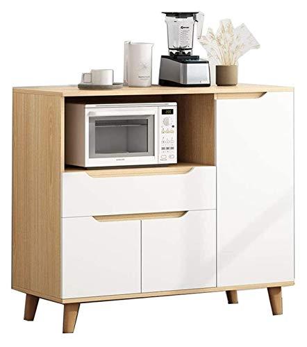 HLZY Armario lateral de acento, gabinetes de almacenamiento de cocina, granja de madera, buffet, gabinete de almacenamiento, sala de estar, aparador, mesa de acento, decoración de muebles