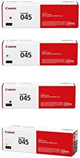 Canon 045 Toner Cartridge - Kit A for MF630 Series & LBP612Cdw Printers, Includes Yellow / Magenta / Cyan / Black