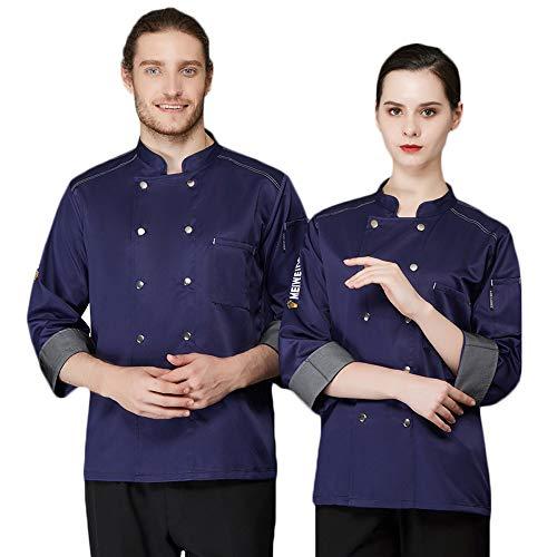 WYCDA kookjack restaurant keuken hotel uniform werkkleding moderne stijl twee-rijen met borstzak voorzijde 80% katoen geschikt voor hotelrestaurants