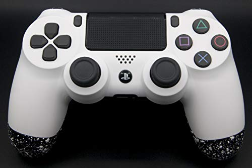 White PlayStation 4 Pro Controller with Remapping Paddles – PS4 Pro Slim DualShock 4 PlayStation 4 Wireless Controller