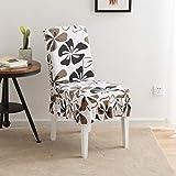 Couverture de Chaise Simple Grille Impression Spandex Décor À La Maison Confortable Chaise Chaise Housse Élastique Force Housse de Siège