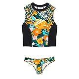 LSEEKA Damen Mode Konservativer Blumendruck Großer Beachwear Bikini122 Sommer- Hawaiianischer Stil Schwimmbad attraktiv Mehrfarbig,XXL