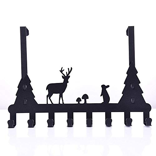 Animal Pattern Muurhaken Kapstokken, Jas En Hoed Hanger Key Rack, Home Improvement Adhesive Hooks Boven De Deur Kleerhanger (Color : Type 1)