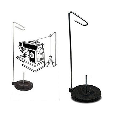 Robusta Base metálica con Universal Cono y la Bobina del Soporte del sostenedor del Hilo Fácil de Usar (Color : Black)