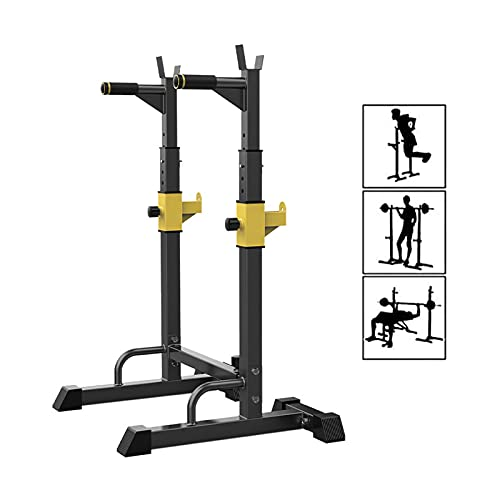 Bueuwe Rack da Squat/Supporto per Bilanciere per Squat/Altezza Regolabile 90 à 140 Cm,per Allenamento Efficace Muscolare Attrezzi Professionali per Il Fitness A Casa,Stabile E Robusto,Max 250kg