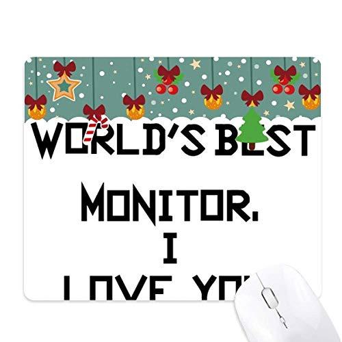 Wereld Beste Monitor Ik hou van je muismat Game Office Mat Kerstmis Rubber Pad