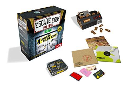Noris Spiele 606101546 Escape Room Inkl. 4 Fällen und Chrono Decoder - 5