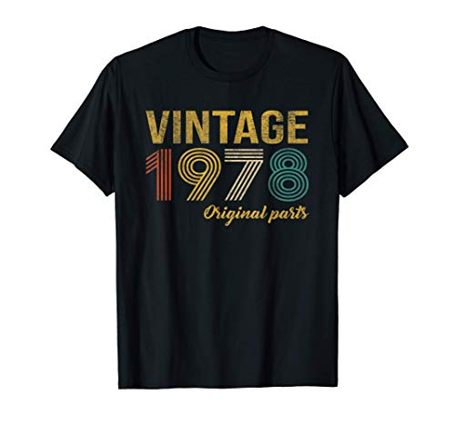 Vintage 1978 Regalo Original Hombre 43 Años Cumpleaños Mujer Camiseta
