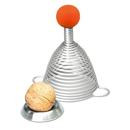 T2 TAKE TWO Take2Naomi Silicone Palla Schiaccianoci, Acciaio Inossidabile, 7.5x 7.5x 12.5cm, Acciaio Inox, Orange,Silber, 7.5 x 7.5 x 12.5 cm