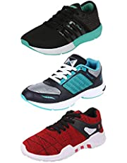 Chevit Men's Combo Pack of 3 Sports Shoes (Running  Gym  Wal