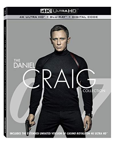 007: The Daniel Craig Collection (4K UHD + Blu-ray + Digital)  $35 at Amazon
