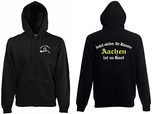world-of-shirt Herren Kapuzenjacke Aachen Ultras kniet nieder