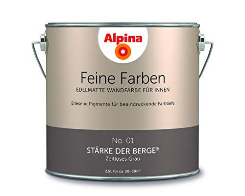 Alpina 2,5 L. Feine Farben, Farbwahl, Edelmatte Wandfarbe für Innen (No.1 Stärke der Berge - Zeitlos