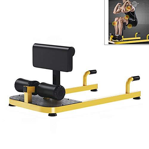 Yajun Sissy Squat Bench Machine Multifunktionale Sit-Ups Push-Up 3-in-1-Konditionierung Kompakter Ganzkörpertraining ABS Trainer
