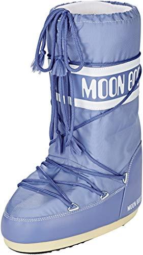 Moon-boot Nylon, Bottes de Neige Garçon Mixte Enfant, Bleu (Avio 078), 23 EU