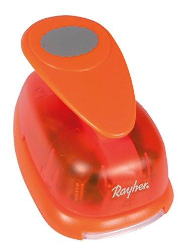 Rayher Hobby 8969800 Motivstanzer Oval, mit Zierrand, ø 2,54 cm- 1 Zoll, geeignet für Papier/Karton bis zu 200g/m²