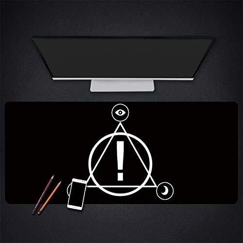 Kreative ausrufezeichen mauspad große größe langlebig Gaming mauspad rutschfeste Gummi Schreibtisch pad Computer 80 * 30 cm