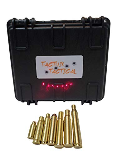 Tactuix Tactical Laser Bore Sight Set for 223/5.56,9MM,7.62X39,30-30WIN,30-06/.25-06/270WIN,243/308/7.62x51,7.62x54R Caliber Rifle Handgun Brass Red Dot boresight Lazer kit