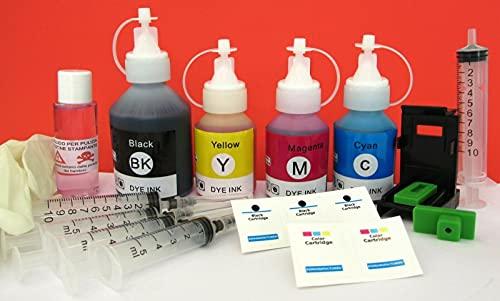 Tinta recarga cartuchos impresora HP Officejet 100 HP 337 negro y 343 color