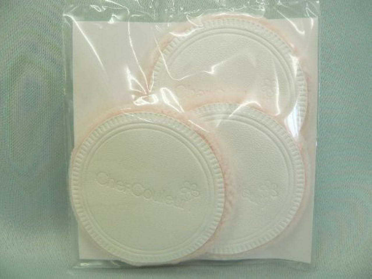 適切に瀬戸際独特のシェルクルール化粧品プロテクトパウダー専用ケース(パフ付き)