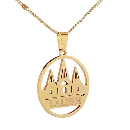 Collares pendientes de acero inoxidable Yazidi Faith Pilgrimage Chain Jewelry-Chapado en bronce antiguo