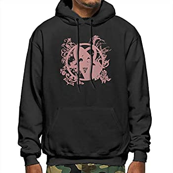 Sandro Heartagram Tattoos Men s Hoodie Fashion Fleeces Pullover Casual Hooded Sweatshirt Black