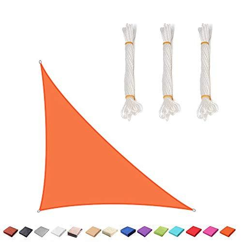 BJYX Toldo Vela De Sombra Triángulo Rectángulo, Protección Rayos UV Impermeable para Patio, Exteriores, Jardín, Personalizado,5 * 5 * 7.1M