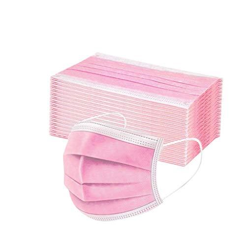 Moilant 50 Stück Erwachsene Einweg Mundschutz, Staubs-chutz Atmungsaktive Drucken Mundbedeckung, Erwachsene, Bandana Face-Mouth Covering Halstuch Schlauchschal (Color 9)