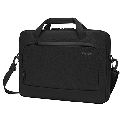 Targus Cypress Slimcase with EcoSmart Designed for Business Traveler and School fit up to 14-Inch Laptop/Notebook, Black (TBS926GL)