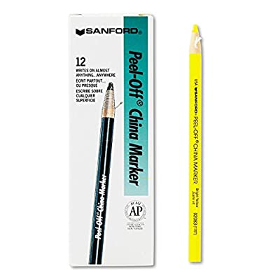 SAN2083 - Sharpie Peel-Off China Markers; 12Total