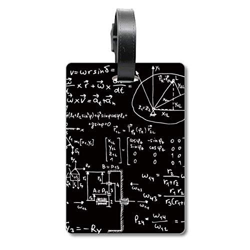 Matrix Mathematische Formeln Wissenschaft Calculus Cruise Koffer Bag Tag Tourister Identifikationsetikett