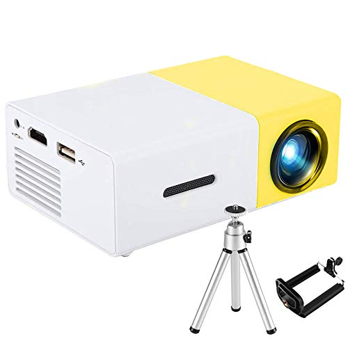 Mini Beamer - 3000 Lumen Heimkino Beamer, Support 1080P Full HD mit 50000 Stunden LED, kompatibel mit TV Stick, HDMI, SD, AV, VGA, USB, Tablet, Smartphone Projektor