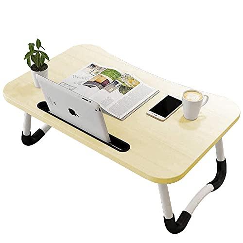 Wooden-Life Laptop-Bettisch, Frühstückstablett mit klappbaren Beinen, tragbarer Kniettenständer, Notebook-Ständer, Lese-Halterung für Couch, Sofa, Boden, Kinder – Standardgröße