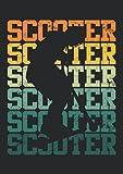 Notizbuch A4 liniert mit Softcover Design: Scooter Geschenk Vintage Roller Skater Skatepark Spruch: 120 linierte DIN A4 Seiten