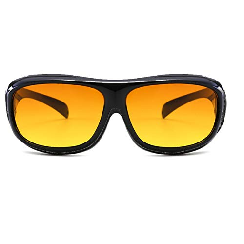 ELLITE HD Clear Vision UV Protection Wraparound Glasses Wear Over Day Sunglasses Eyewear - Brown