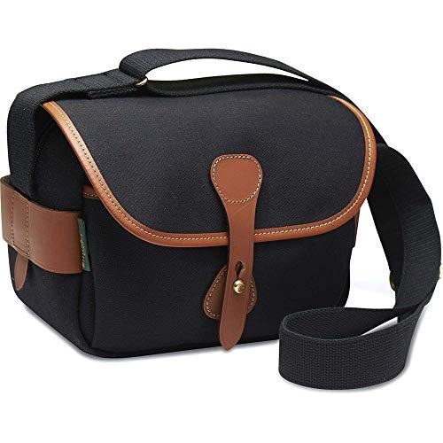 Billingham S2 - Bolso de Hombro, Color Negro con Bordes de Cuero