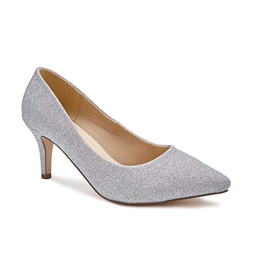 Paradox London Pink Damen LaVine Pumps, Silber (Silver 40), 39 EU