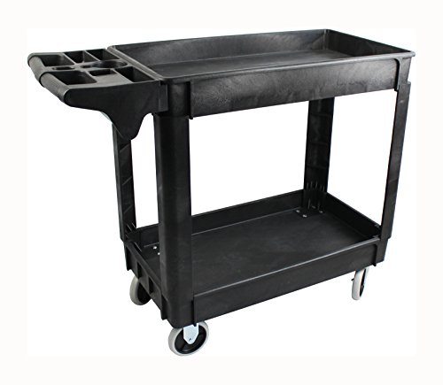 """MaxWorks 80855 500-Pound Service Cart With Two Trays (40"""" x 17"""" Overall Dimensions)"""
