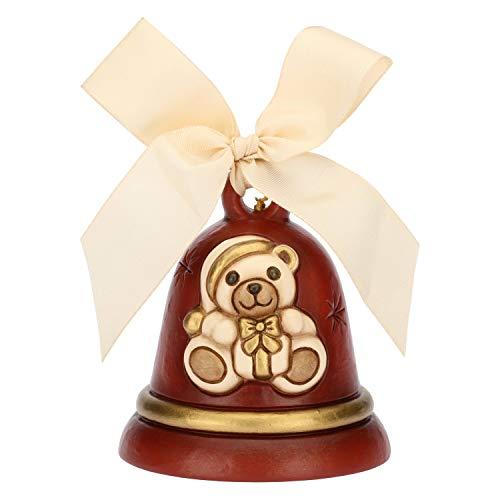 THUN ® - Campanella Rossa Teddy Limited Edition 2018 - Ceramica - h 7,9 cm - Linea I Classici