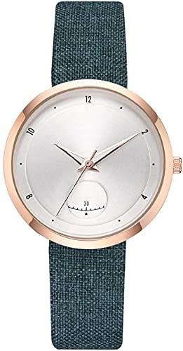 JZDH Mano Reloj Relojes de Mujer Relojes de Pulsera Casual Moda Unisex Correa de Cuero Reloj Reloj Reloj Menores Reloj Gift Green Relojes Decorativos Casuales
