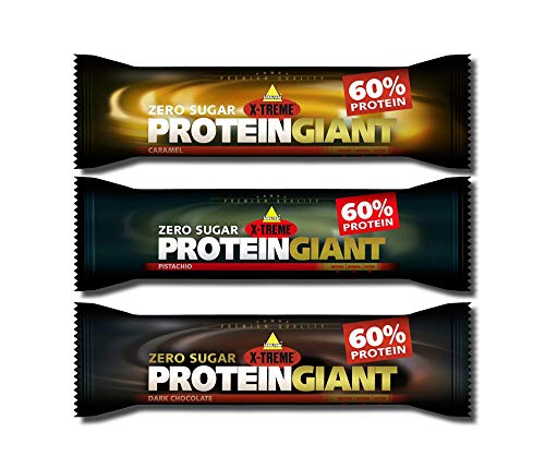 Inko X-Treme Protein GIANT 24 x 65g Riegel Mix-Box ( Caramel, Dark Chocolate, Pistazie )