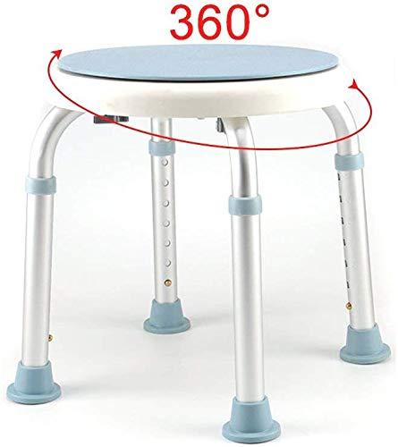LAL6 150kg Badhocker Für Dusche Duschhocker Höhenverstellbar Duschsitz Weiß Duschhilfe Mit Sicherheitsgriff Anti-rutsch 360° Drehbar