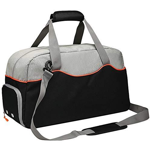 Gym Gym Duffle Bag, sporttassen met schoenenvak, waterfles, zijdelingse nettas en slijtvast bodemdesign, voor mannen en vrouwen op reis