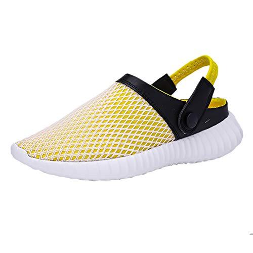 Hombres Mujeres Unisex Zapatillas de Playa Sandalias Piscina Zapatos de Jardín Respirable Malla Casual Pantuflas Hombre Al Aire Libre Cuero Verano Playa Senderismo Zapatos