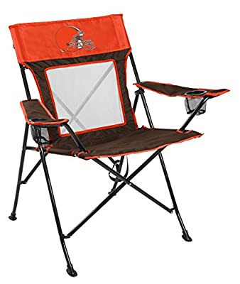 Rawlings NFL Game Changer Large Folding Tailgating and Camping Chair, with Carrying Case, Cleveland Browns