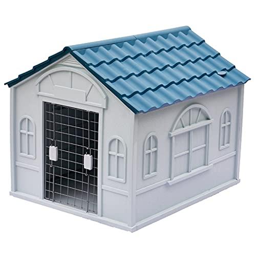 XYF Plastic Caseta para Perros Habitación para Perros Techada Y Casa De Gato Mascota Fácil De Montar, Jaula para Perros Y Gatos para Perros...