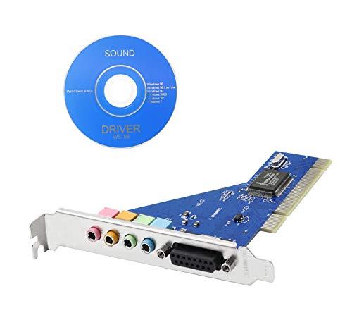 YACSEJAO PCI Scheda Audio 4.1 Canali Computer Desktop Scheda Audio Integrata Con Driver CD Componenti Elettronico HIFI Stereo Sound DLS Chipset Interno