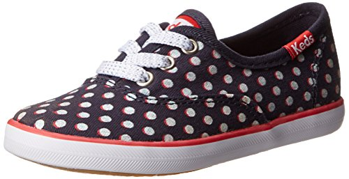 Keds Champion K Sneaker (Toddler/Little Kid/Big Kid),Navy/Glitter Dot,9 M US Toddler