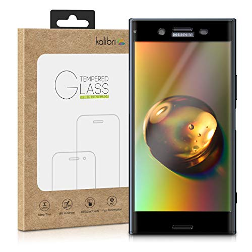 kalibri Protector de Pantalla Compatible con Sony Xperia XZ Premium - Cristal Templado 3D Curvado en Negro